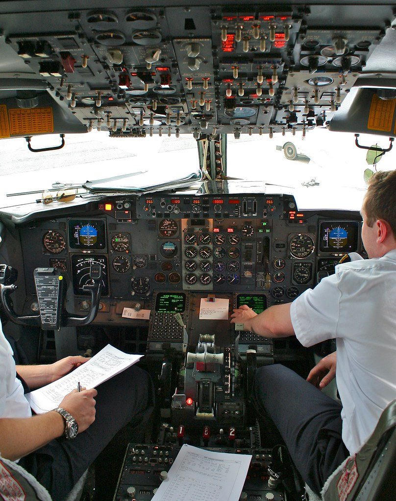 Cockpit of Boeing 737-300 by Andrey Belenko, on Flickr