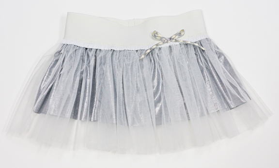 white silver tulle skirt