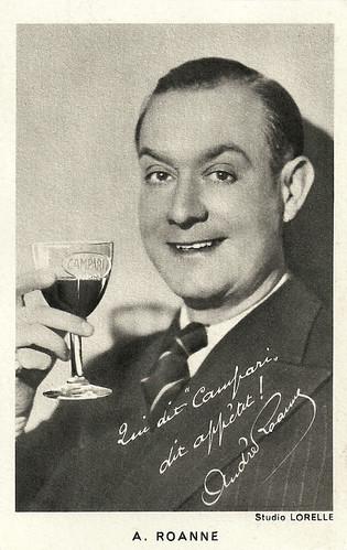 André Roanne. publicity for Campari