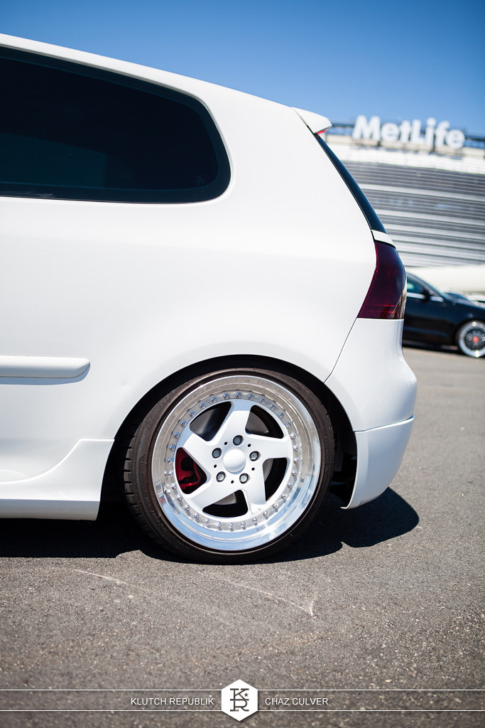 white mk6 vw gti static low and fitted at eurofest 2012