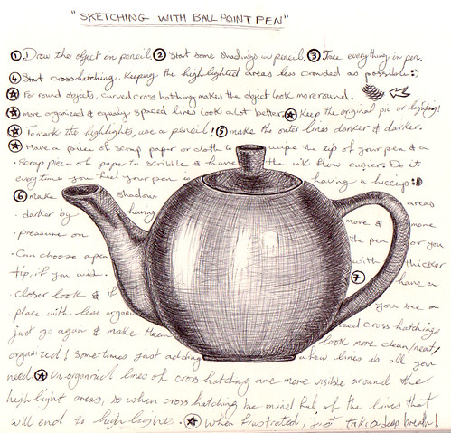 tea pot - ink paint