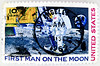 In memory of Neil Armstrong - wonderful stamp USA air mail postage 10c First Man On The Moon United States postes timbre par avion selos sellos USA Airmail francobolli postzegels USA u.s. postage Airmail 郵便切手 切手  アメリカ stamps u.s. postage 10c stamp 切手 USA