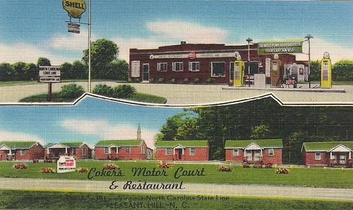 Coker's Motor Court - Historical Postcard