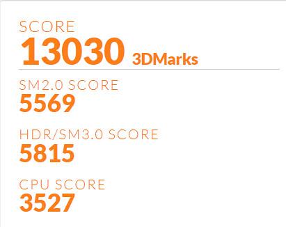 Inspiron N7720 - Scor 3D Mark 06