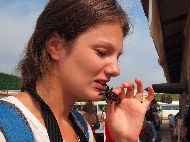 Eating spiders in Cambodia