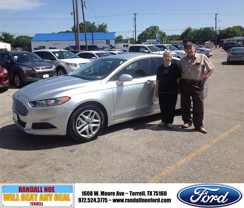 Randall Noe Terrell Tx >> Congratulations To Js Risinger On Your Ford Fusion Purch Flickr