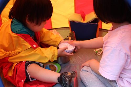 イケアの子供用テント3