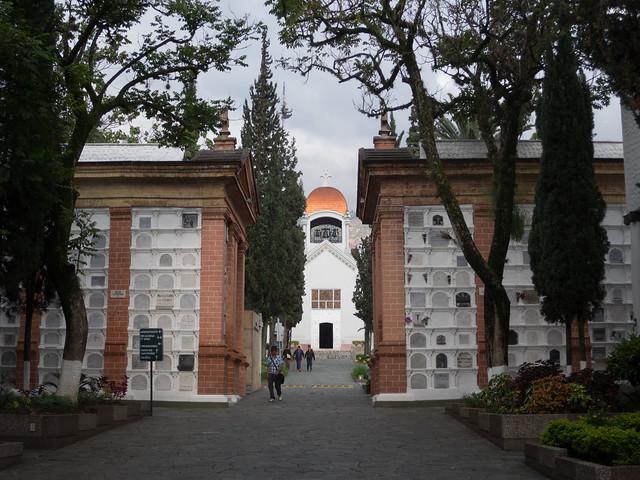 View toward the chapel in Museo Cementerio San Pedro
