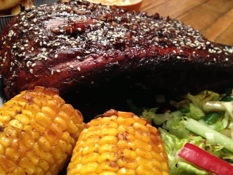 Succulent Sticky Pork : Side On
