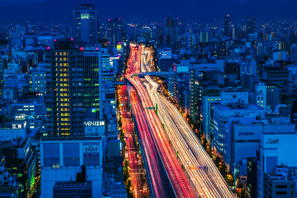 Osaka Highways Blue Hour