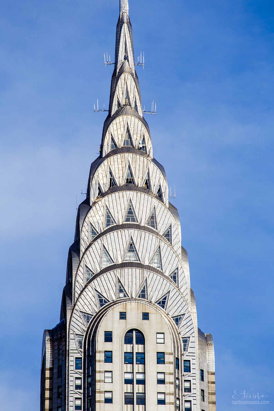 Close-up detail of the Chrysler Building