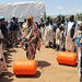 UNAMID's Child Protection Unit Handing over Water Rollers to the Displaced in Sortony, North Darfur