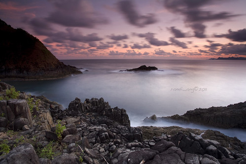 cliff seascape west beach canon indonesia landscape eos twilight rocks long exposure filter 5d ang lombok hitech nusa randi barat tenggara ef1740mmf4lusm semeti