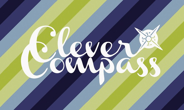 Alissa Enders' CleverCompass.com business card, front
