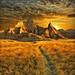 amazing badlands sunrise - badlands national park, south dakota by Dan Anderson.