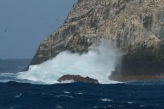 arctic ocean, cape, sea, ocean, wind wave, wave, shore, terrain, coast, rock, cliff,