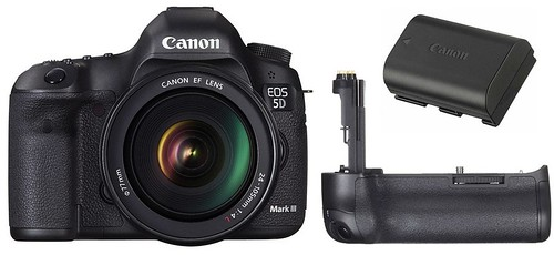 Canon 5D Mark III, LP-E6 and BG-E11 -- Battery Life