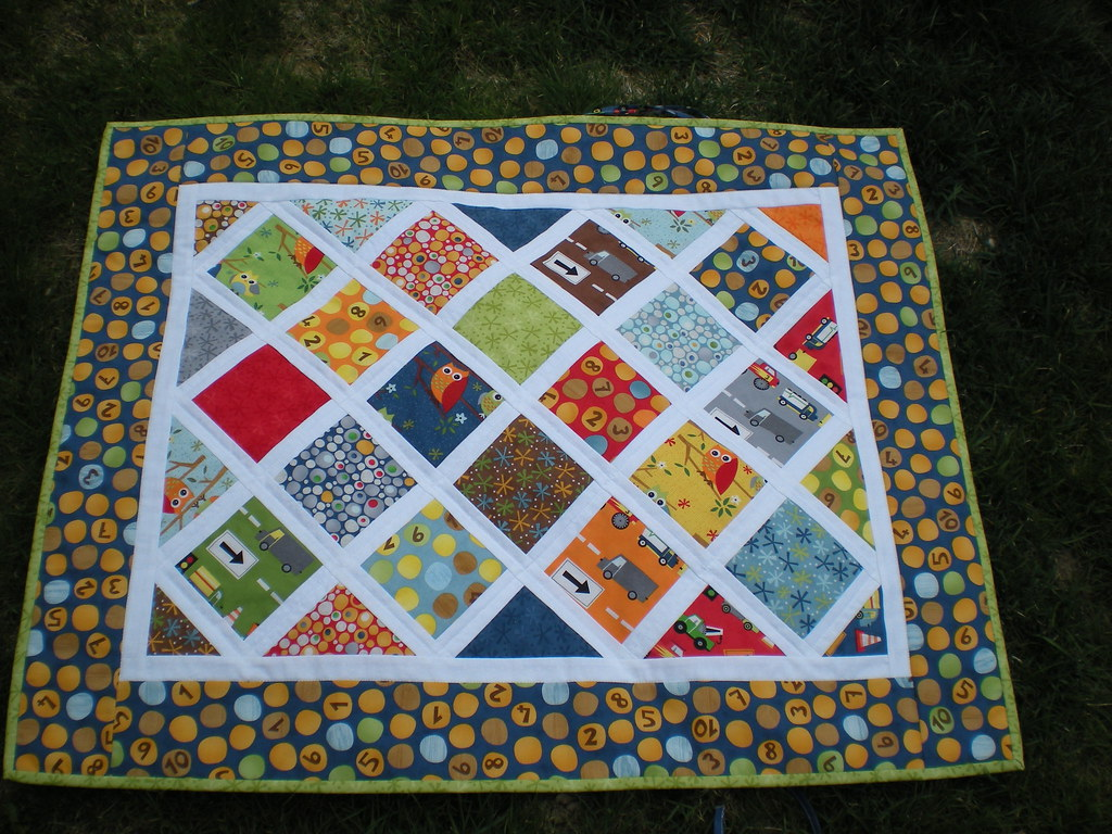 "Boy ""Sophie Car Seat Quilt"""