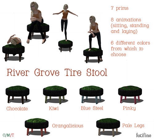 fucifino.river grove tire stool for Project Themeory 'Earth Rebirthed'