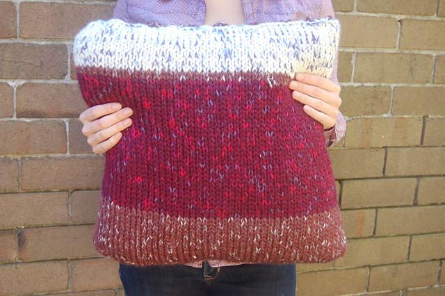 knit pillowcase