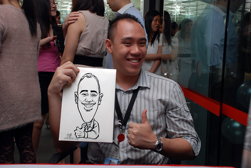 Caricature live sketching for Singapore Suntec City Annual Party - 1
