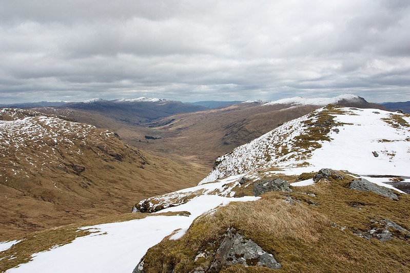 Looking along Cam Chreag to Glen Lochay