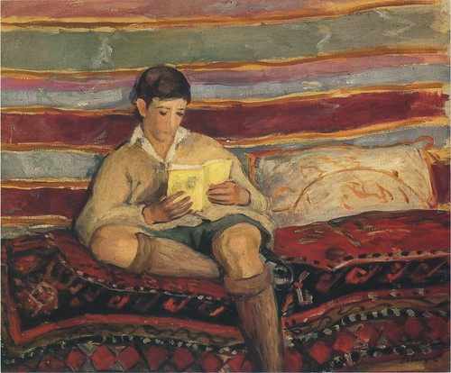 Lebasque,  Henri  (French, 1865-1937)  - Young Boy Reading  - s.d.