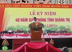 Trưởng Ban Tuyên giáo Đinh Thế Huynh dự kỷ niệm 40 năm ngày giải phóng tỉnh Quảng Trị