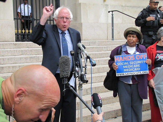 Seniors Protest Fiscal Summit and Advocate for Protecting Social Security