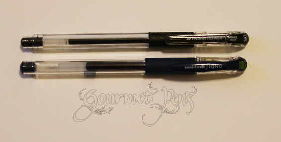 Pentel Hybrid Technica vs Uni ball Signo