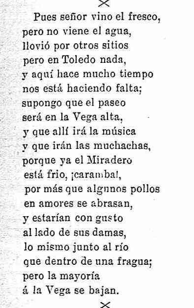 Coplilla publicada el 16-9-1898 en La campana gorda sobre el Paseo de Merchán y el del Miradero