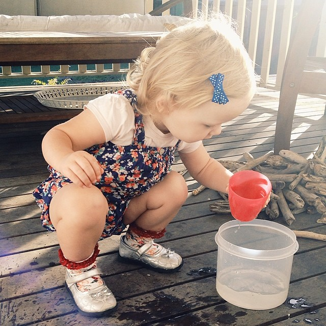 My little sunshine. #waterplay #wholeheartedjournal #childhoodunplugged