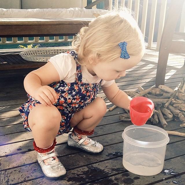 My little sunshine. #waterplay #wholeheartedjournal #childhoodunplugged