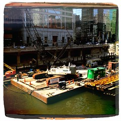 Chicago River Walk Construction