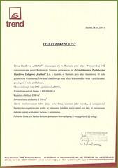 Referencje z firmy Trend 2004r.