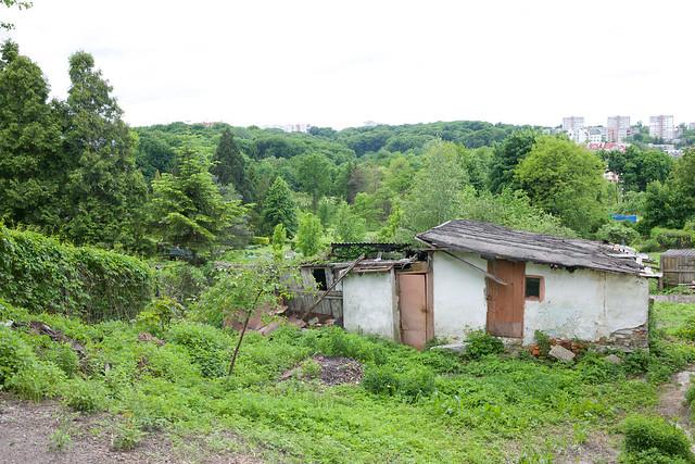 next to Lviv botanic garden. Ukraine