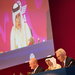 AGM opening session with Paul Steele, SVP IATA, Akbar Al Baker, CEO Qatar Airways, Tony Tyler, DG IATA