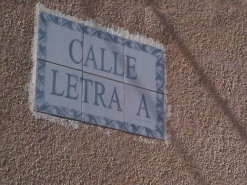 Calle Letra A
