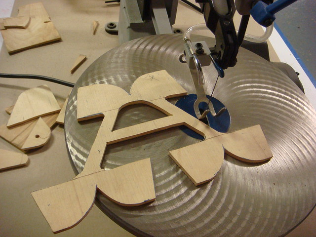 Scroll Saw Cut Wood with Letters
