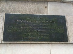 Photo of Moritz Heinrich Romberg bronze plaque