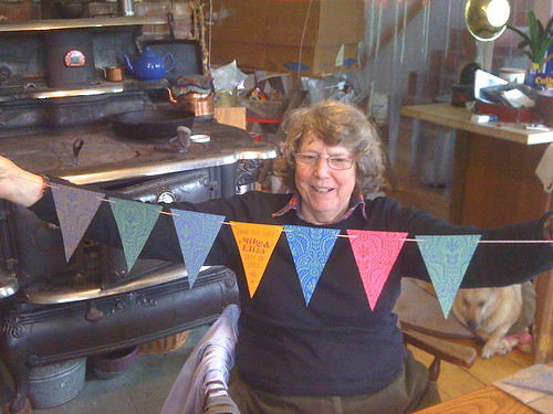 Judy with bunting
