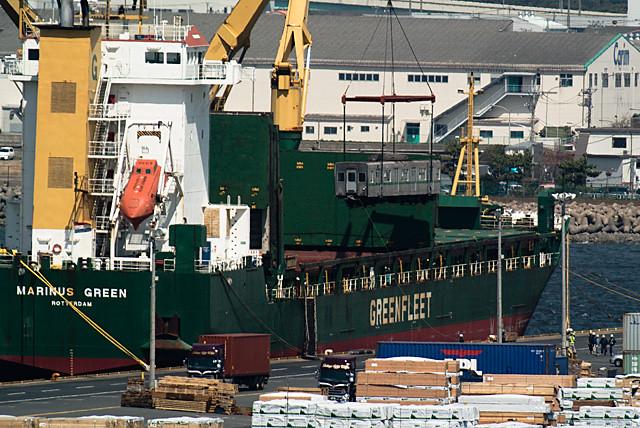 東京メトロ千代田線 6000系 船積み