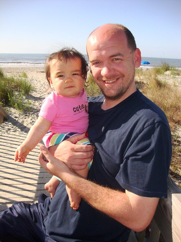 Izzy and Daddy on the Beach