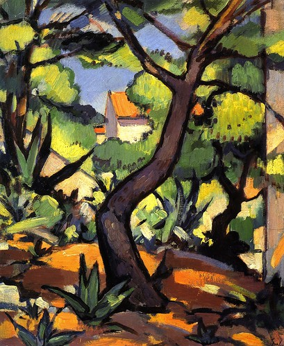 Peploe, Samuel John (Scottish, 1871-1935)  - Landscape at Cassis  - 1924