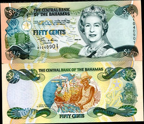 50 Centov Bahamy 2001, Pick 68