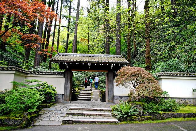 Entrance To Portland Rose Gardens : Entrance into japanese gardens washington park