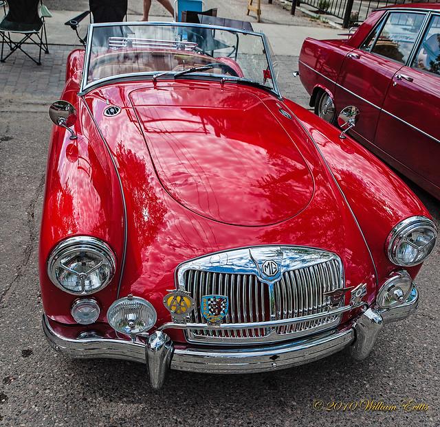British Vintage MGA Car