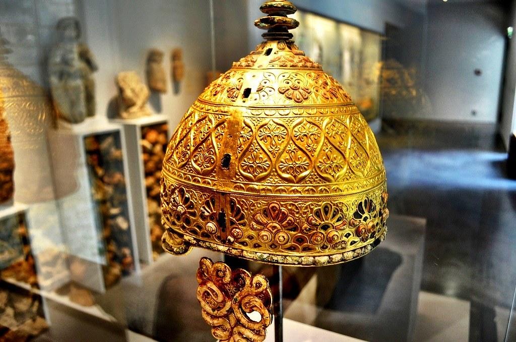 Angoulême Museum, France Celtic helmet