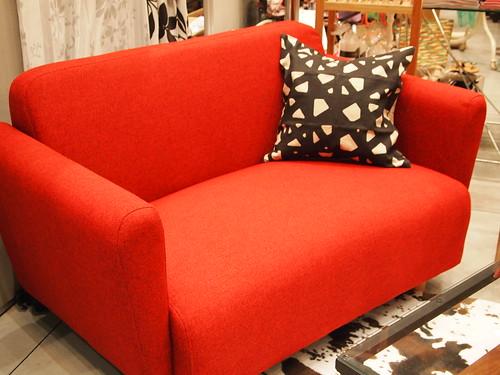 フランフラン 赤いソファ 2人掛け用