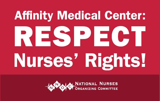 Affinity Medical Center RNs to Picket Monday for Safe Staffing